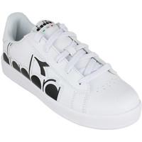 Scarpe Unisex bambino Sneakers basse Diadora game p bolder gs c0351 Nero