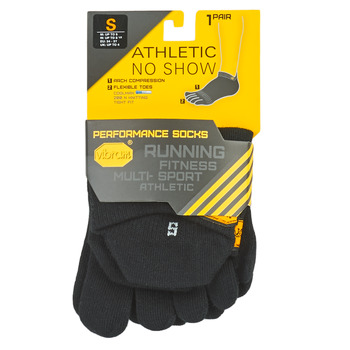 Accessori Calze sportive Vibram Fivefingers ATHLETIC NO SHOW Nero