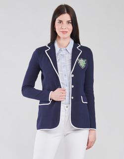 Abbigliamento Donna Giacche / Blazer Lauren Ralph Lauren AYELEE Blu / Bianco