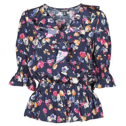 Abbigliamento Donna Camicie Lauren Ralph Lauren HELZIRA Blu / Multicolore