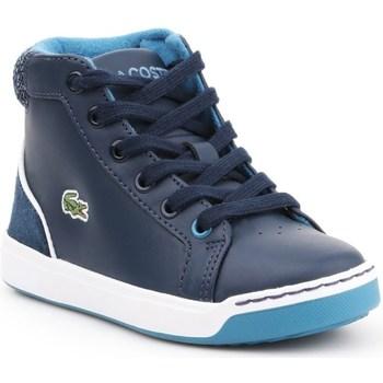 Scarpe Unisex bambino Sneakers alte Lacoste Explorateur Lace Blu marino