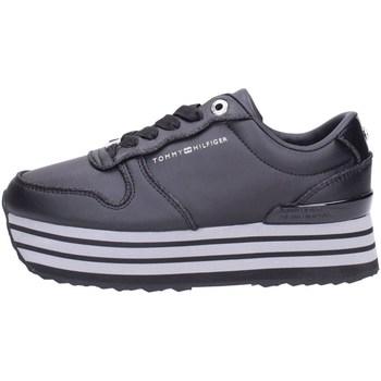 Scarpe Donna Sneakers alte Tommy Hilfiger fw0fw05236 Alte Donna Nero Nero