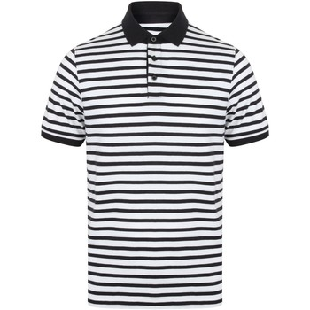 Abbigliamento Uomo Polo maniche corte Front Row FR230 Bianco/Blu navy