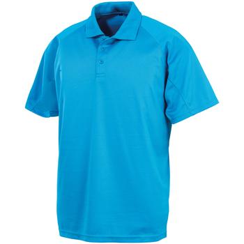 Abbigliamento Polo maniche corte Spiro SR288 Azzurro
