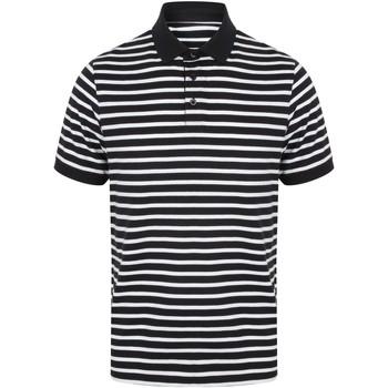 Abbigliamento Uomo Polo maniche corte Front Row FR230 Blu navy/Bianco