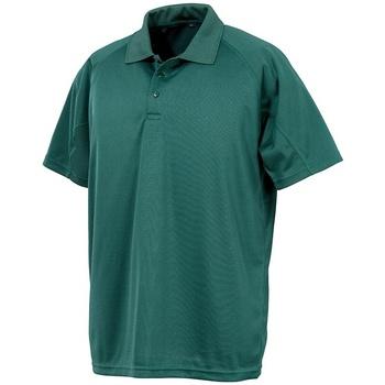 Abbigliamento Polo maniche corte Spiro SR288 Verde bottiglia