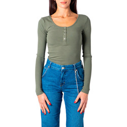 Abbigliamento Donna T-shirts a maniche lunghe Pieces 17101437 Verde