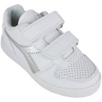 Scarpe Bambina Sneakers basse Diadora playground ps girl c0516 Argento