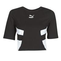 Abbigliamento Donna T-shirt maniche corte Puma RETRO FROPnTOP Nero