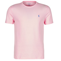 Abbigliamento Uomo T-shirt maniche corte Polo Ralph Lauren T-SHIRT AJUSTE COL ROND EN COTON LOGO PONY PLAYER Rosa