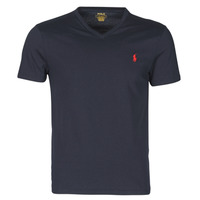 Abbigliamento Uomo T-shirt maniche corte Polo Ralph Lauren T-SHIRT AJUSTE COL V EN COTON LOGO PONY PLAYER Blu
