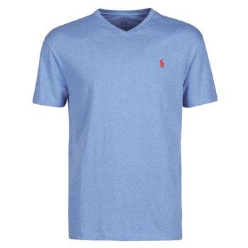 Abbigliamento Uomo T-shirt maniche corte Polo Ralph Lauren T-SHIRT AJUSTE COL V EN COTON LOGO PONY PLAYER Blu / Pale / Royal / Heather