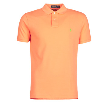 Abbigliamento Uomo Polo maniche corte Polo Ralph Lauren POLO AJUSTE DROIT EN COTON BASIC MESH LOGO PONY PLAYER Arancio