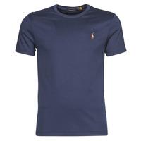 Abbigliamento Uomo T-shirt maniche corte Polo Ralph Lauren T-SHIRT AJUSTE COL ROND EN PIMA COTON LOGO PONY PLAYER MULTICOLO Blu