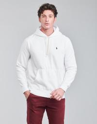 Abbigliamento Uomo Felpe Polo Ralph Lauren SWEAT A CAPUCHE MOLTONE EN COTON LOGO PONY PLAYER Bianco