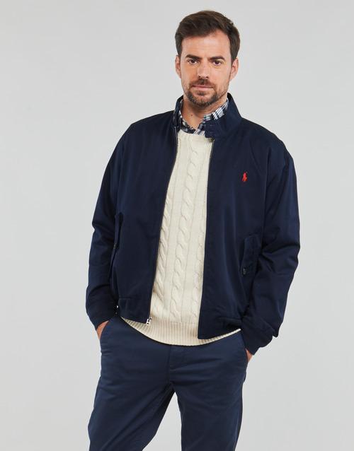 Abbigliamento Uomo Giubbotti Polo Ralph Lauren BLOUSON BARACUDA COTON DOUBLE LOGO PONY PLAYER Blu
