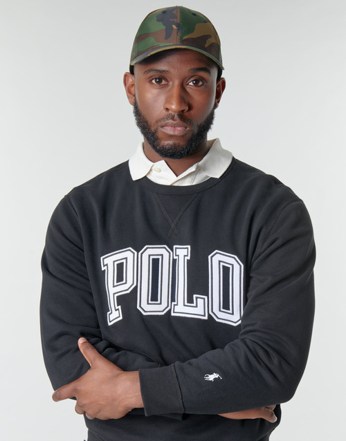 SWEATSHIRT COL ROND INSCIRPTION POLO ET PONY PLAYER SUR LA MANCH