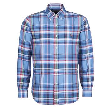 Abbigliamento Uomo Camicie maniche lunghe Polo Ralph Lauren CHEMISE AJUSTEE EN OXFORD COL BOUTONNE  LOGO PONY PLAYER MULTICO Multicolore