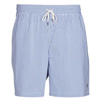 Abbigliamento Uomo Costume / Bermuda da spiaggia Polo Ralph Lauren MAILLOT SHORT DE BAIN RAYE SEERSUCKER CORDON DE SERRAGE ET POCHE Blu