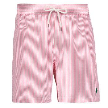 Abbigliamento Uomo Costume / Bermuda da spiaggia Polo Ralph Lauren MAILLOT SHORT DE BAIN RAYE SEERSUCKER CORDON DE SERRAGE ET POCHE Rosso / Bianco