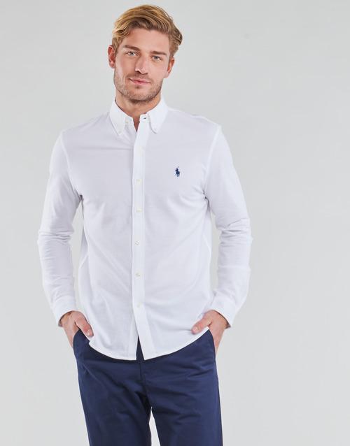 Abbigliamento Uomo Camicie maniche lunghe Polo Ralph Lauren COPOLO Bianco