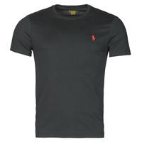 Abbigliamento Uomo T-shirt maniche corte Polo Ralph Lauren T-SHIRT AJUSTE COL ROND EN COTON LOGO PONY PLAYER Nero