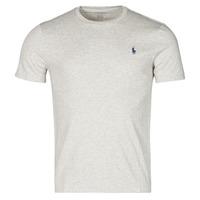 Abbigliamento Uomo T-shirt maniche corte Polo Ralph Lauren T-SHIRT AJUSTE COL ROND EN COTON LOGO PONY PLAYER Grigio