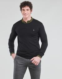 Abbigliamento Uomo Maglioni Polo Ralph Lauren PULL COL ROND AJUSTE EN COTON PIMA LOGO PONY PLAYER Nero