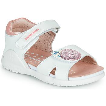 Scarpe Bambina Sandali Biomecanics 212163 Bianco / Rosa