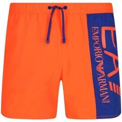 Abbigliamento Uomo Costume / Bermuda da spiaggia Emporio Armani EA7 Costume a pantaloncino  Uomo 902000 9P738 ARANCIONE Arancio