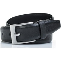 Accessori Cinture Jaslen Cintura unisex in pelle in pelle genuina Nero