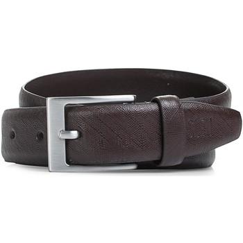Accessori Cinture Jaslen Cintura unisex in pelle in pelle genuina Marrone