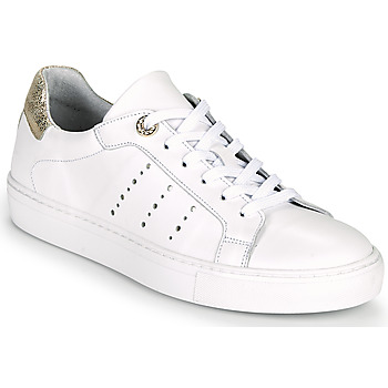 Scarpe Donna Sneakers basse Myma PEGGUI Bianco / Oro