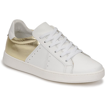 Scarpe Donna Sneakers basse Myma PIGGE Bianco / Dore