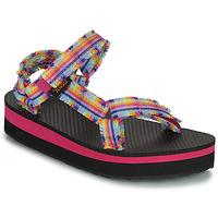 Scarpe Bambina Sandali Teva C MIDFORM FRAY Rosa / Multicolore