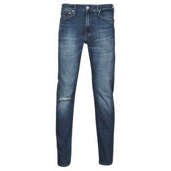 Abbigliamento Uomo Jeans dritti Calvin Klein Jeans SLIM TAPER Blu / Medium