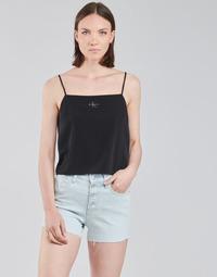 Abbigliamento Donna Top / Blusa Calvin Klein Jeans MONOGRAM CAMI TOP Nero