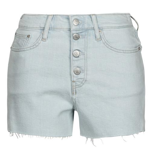 Abbigliamento Donna Shorts / Bermuda Calvin Klein Jeans HIGH RISE SHORT Blu / Clair