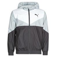 Abbigliamento Uomo giacca a vento Puma ESS+ CB Windbreaker Nero / Bianco / Grigio