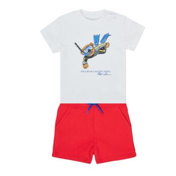 Abbigliamento Bambino Completo Polo Ralph Lauren SOULA Multicolore