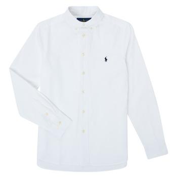 Abbigliamento Bambino Camicie maniche lunghe Polo Ralph Lauren GONNA Bianco
