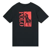 Abbigliamento Bambino T-shirt maniche corte Polo Ralph Lauren CROPI Nero