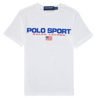 Abbigliamento Bambino T-shirt maniche corte Polo Ralph Lauren DRONI Bianco