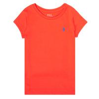 Abbigliamento Bambina T-shirt maniche corte Polo Ralph Lauren SIDONIE Rosso