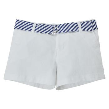 Abbigliamento Bambina Shorts / Bermuda Polo Ralph Lauren FILLI Bianco