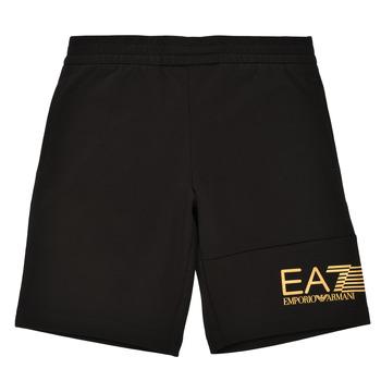Abbigliamento Bambino Shorts / Bermuda Emporio Armani EA7 3KBS53-BJ05Z-1200 Nero / Oro