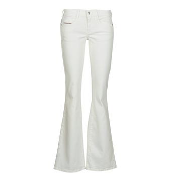 Abbigliamento Donna Jeans bootcut Diesel D-EBBEY Bianco / Cassé