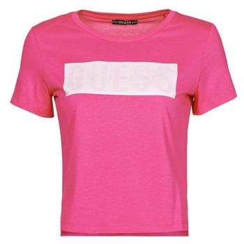 Abbigliamento Donna T-shirt maniche corte Guess SS CN ADRIA TEE Fucsia