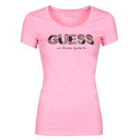 Abbigliamento Donna T-shirt maniche corte Guess SS RN MARTINA TEE Rosa