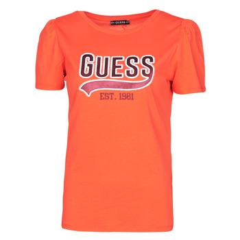 Abbigliamento Donna T-shirt maniche corte Guess SS CN MARISOL TEE Rosso